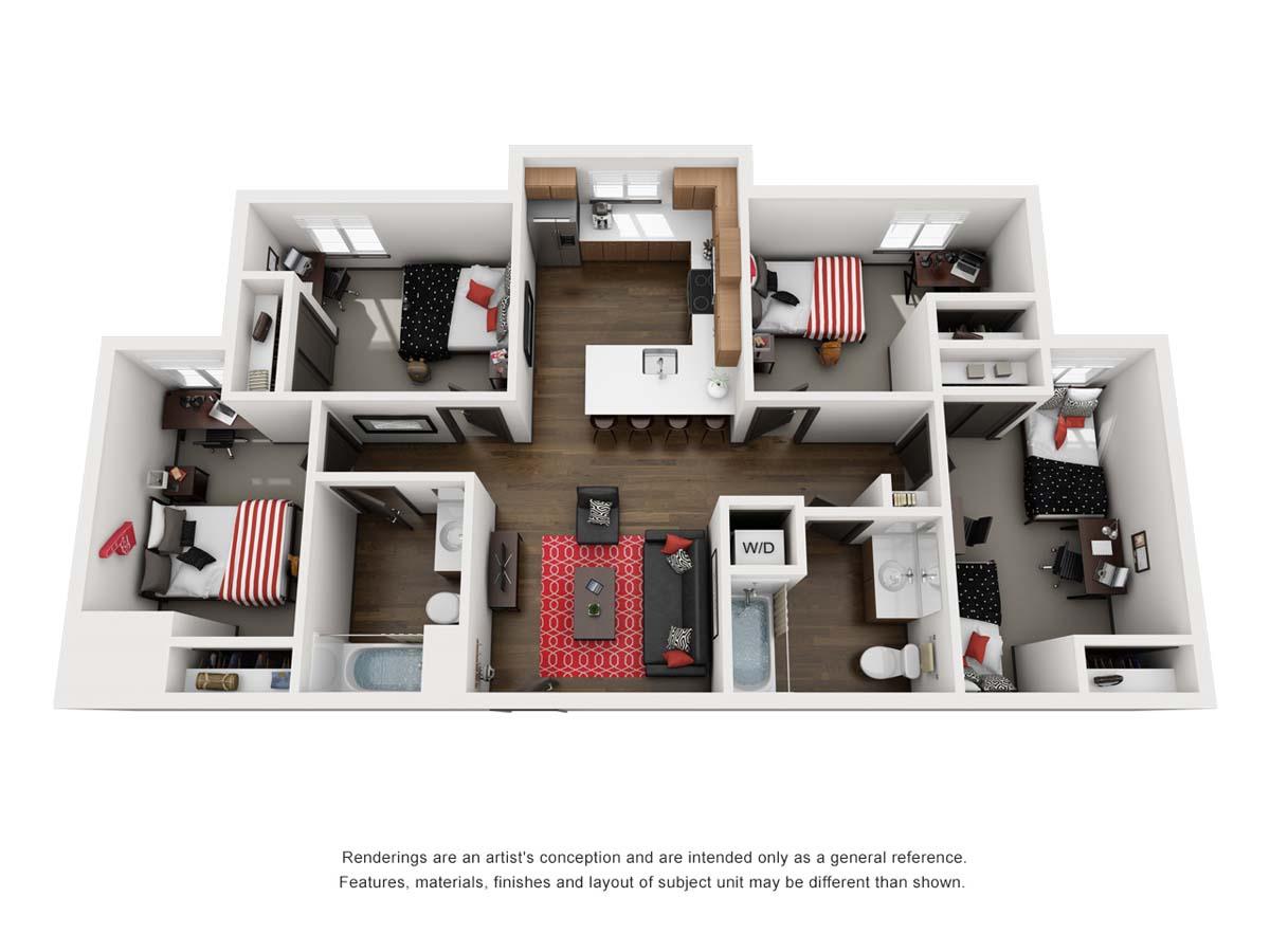 Ellipse, floor plan AR