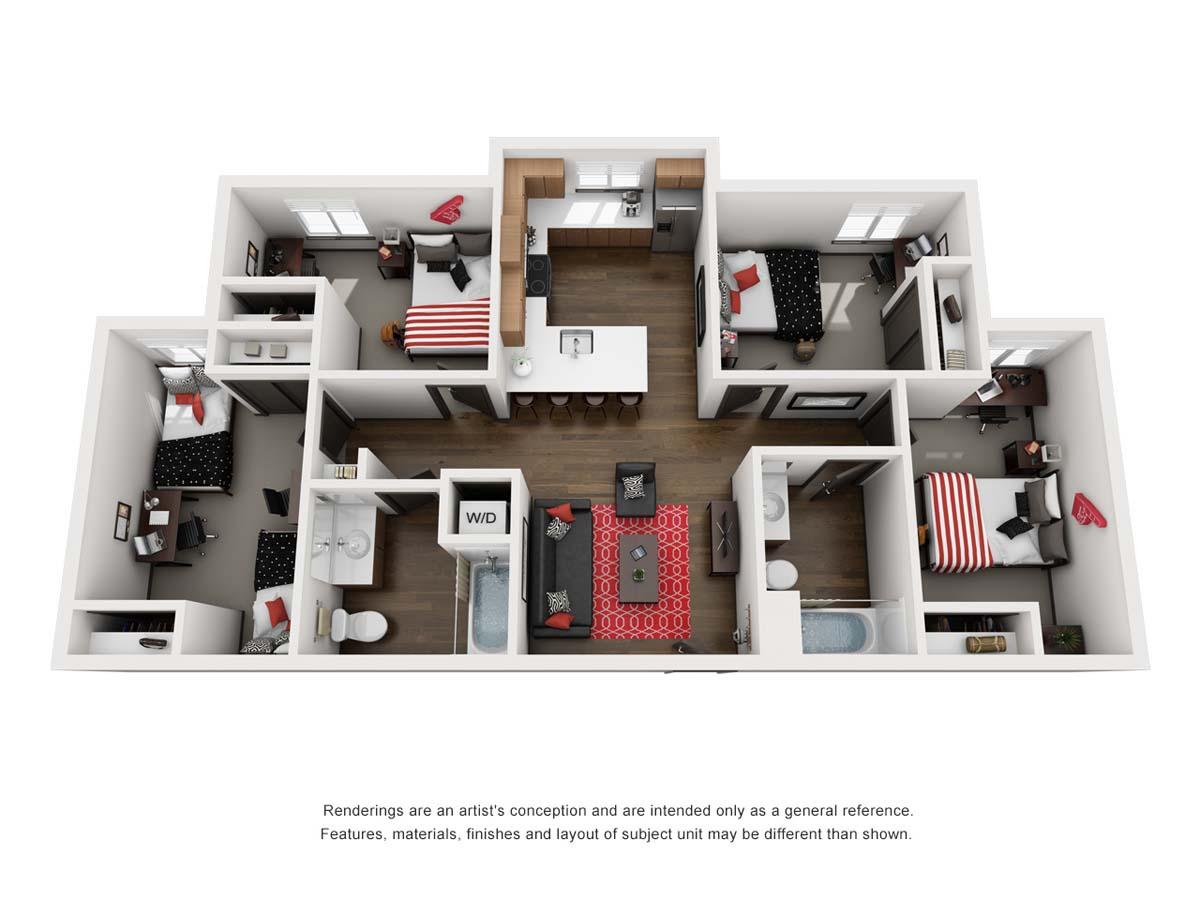 Globe, floorplan A