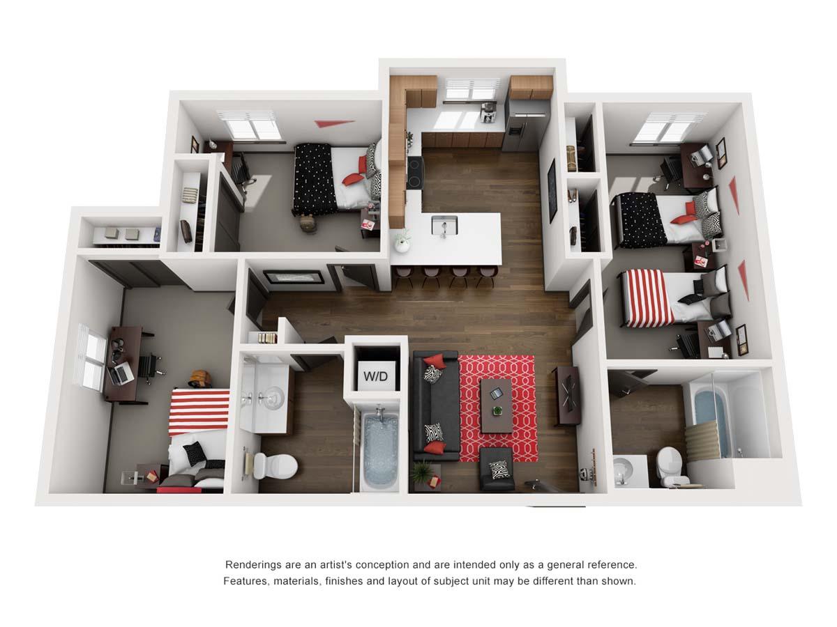 Orbit, floor plan D