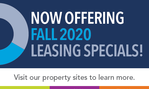 Now Offering Fall 202 Leasing Specials!