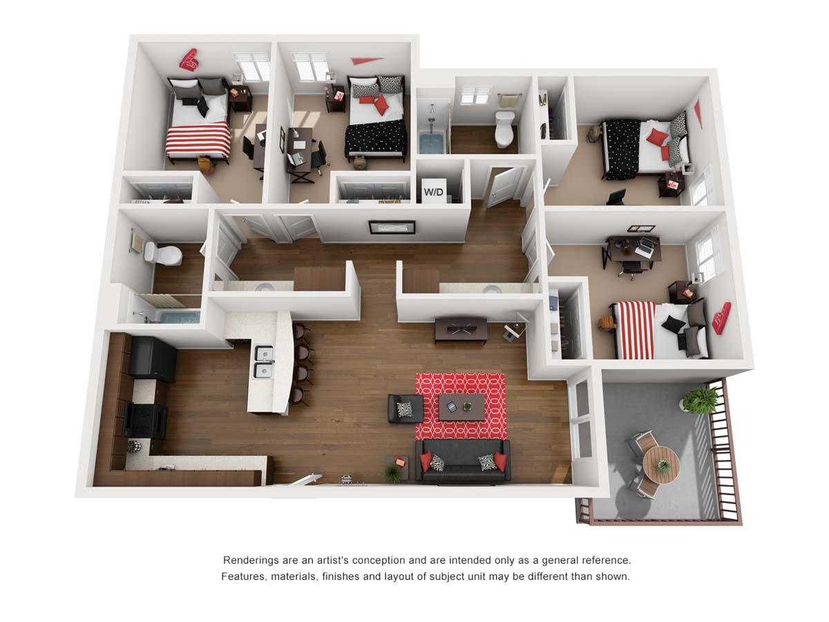 ZUMA floorplan 5, Mezcal